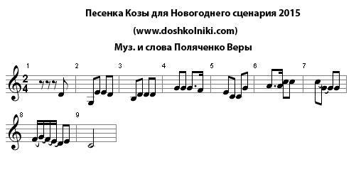 Страница с текстом из cosa sei (русская версия) под исполнением ricchi e poveri.