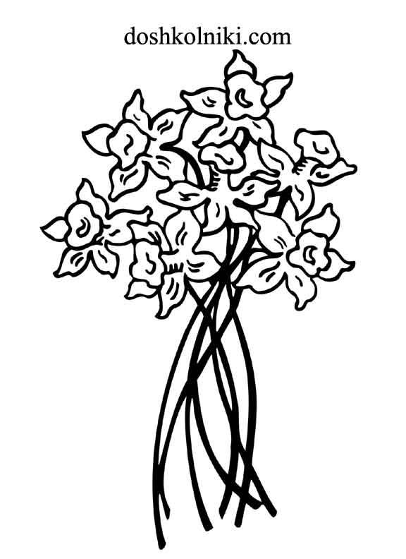 Картинки раскраски цветы печатать бесплатно