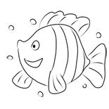 раскраска рыбка