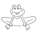 раскраска онлайн лягушонок
