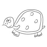 раскраска онлайн черепаха